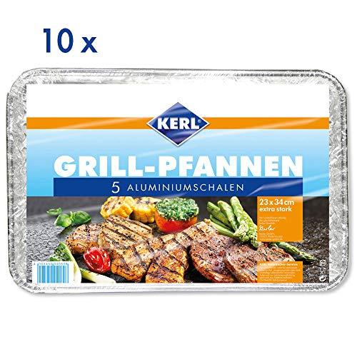 KERL Grillpfannen eckig, extra stark, 10 Pack à 5 Stück Aluminium-serveware