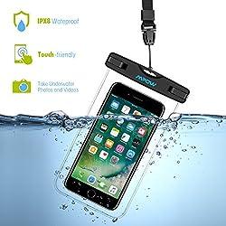 Mpow Funda Impermeable 2 Unidades, Funda Bolsa Impermeable IPX8 para Móvil Universal de 4-6 Pulgada iPhone 7/6s, 7/6s plus, 5s, SE Samsung S7/S7 Huawei Móvil