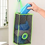 One Pearl Home Store Recycle Breathable Mesh Hanging Plastic Garbage Bags Storage Holder-Large