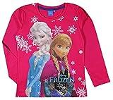 Disney Frozen Mädchen T Shirt Top Langärmelige–Alter 3–9Jahre Gr. 7 Jahre, Kirschrot