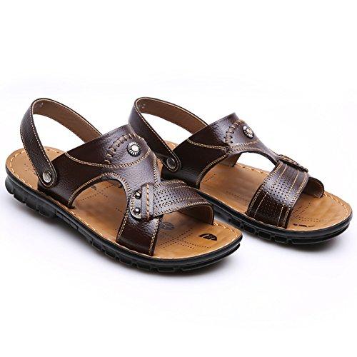 SU@DA Mâle/plage/sandales / / cuir/respirant/pantoufles neuves Brown