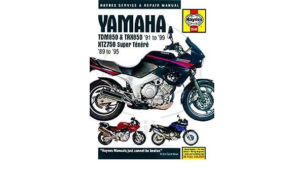 haynes manual 3540 yamaha tdm850/trx850 & xtz750: amazon co uk: car &  motorbike