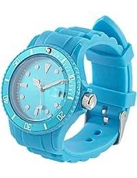 St. Leonhard Unisex-Uhr: Sportliche Silikon-Quarz-Armbanduhr, Lupen-Mineralglas, himmelblau (Unisex Silikon-Armbanduhr)