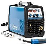 MIG-185R Inverter Saldatrice MIG MAG - Saldatrice a gas di protezione con 185 Ampere anche FLUX/cavo di riempimento e elettrodi adatto con/MMA E-Hand/display digitale/tecnologia IGBT/230 V/blu