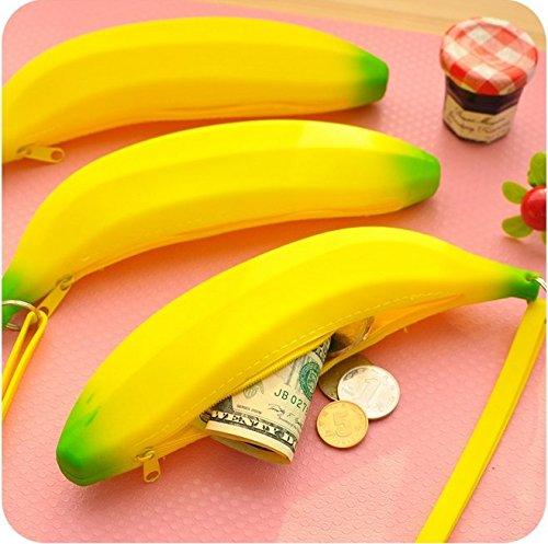 Bear boys Niedliche Gelb Bananen Tier Anime Geldbörse Coin