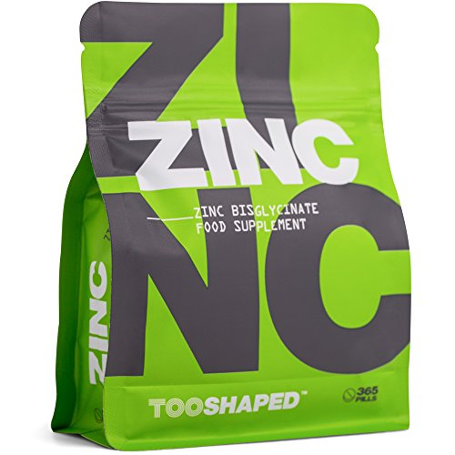 ZINC - Compresse di zinco bisglicinato 25 mg (dose elevata) - massima biodisponibilità - 365 compresse vegane, fornitura di un anno da TOOSHAPED