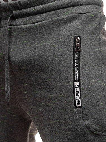 Pantaloni Medium Sportivi Scuro Uomo Grigio Bolf oedxCB