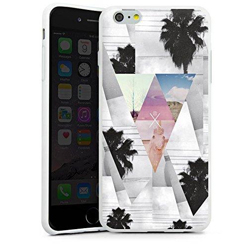 Apple iPhone X Silikon Hülle Case Schutzhülle Dreiecke Hipster Palmen Silikon Case weiß