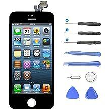 Aidee Pantalla Táctil LCD para iPhone 5 (4,0 pulgadas), [Pantalla LCD Pantalla Táctil de Repuesto] [Herramientas completas de Reparación] Pantalla LCD para iPhone 5 - Color Negro