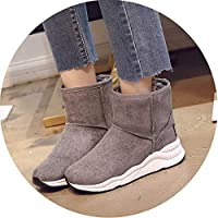 Snow Boots for Women Shoes Wedge Rubber Anti-Slip Sole Winter Boots Waterproof Bottom Cotton Shoes