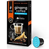 Ginseng Kaffee - 10 Kapseln Ginseng Kaffee ungesüßt NESPRESSO®* - King Cup
