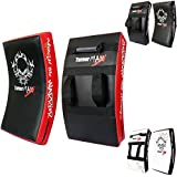 TurnerMAX BOXING KICK PAD, CURVED STRIKE SHIELD, Training for MMA, Kick Boxing, Karate - Red/Blk