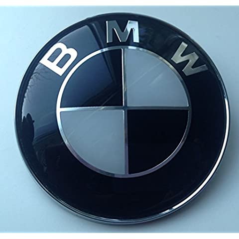 BMW NERO/BIANCO cappuccio Tronco distintivo, 82 mm, by goodealshop