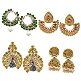 #9: Zaveri Pearls Jhumki Earrings for Women (Golden)(ZPFK6029)