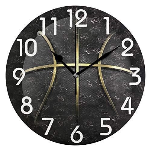AmyyEden - Reloj Pared Redondo Madera diseño balón
