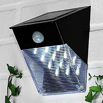 12 led solarleuchte mit bewegungsmelder pir wandhalterung gartenweg m beleuchtung. Black Bedroom Furniture Sets. Home Design Ideas