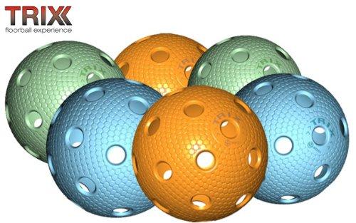 Preisvergleich Produktbild TRIX Unihockey / Floorball Ball 6er Pack MATCHBALL COLOR MIX