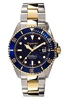 Gigandet Reloj de Hombre Automático Sea Ground Reloj de Buceo Analógico Correa de Acero Azul Oro G2-001 de Gigandet