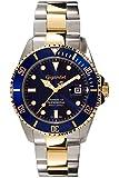 Gigandet SEA GROUND - plongée montre de sport de 300m automatique - homme / femme - cadran bleu - avec la date et bracelet en acier inoxydable - G2-001