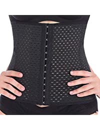 e681375938 Everbellus Breathable Latex Corset Training Waist Cincher Women