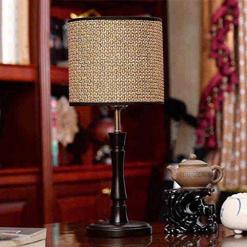 Nordische Moderne Lampen-Stock-Lampen-Schatten-hölzerne einfache Art- und Weisezimmer-Studie-Lampe ()