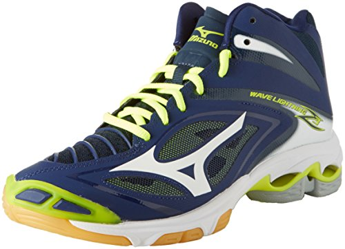 Mizuno Wave Lightning Z3 Mid, Scarpe da Ginnastica Uomo, Blu (Blue Depths/White/Safety Yellow), 44.5 EU