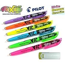 Pink Hellblau Hellgrün Orange Pilot Pen Frixion Tintenroller  4 Stückt