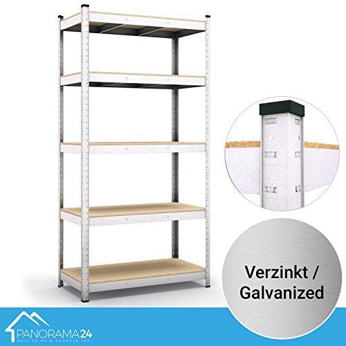 Preisvergleich Produktbild Panorama24 Lagerregal verzinkt belastbar bis 875kg - Maße: 200 x 90 x 60 cm, Regal Kellerregal Steckregal Werkstattregal Schwerlastregal