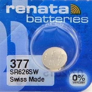 Renata Uhrenbatterie SP 377 ///;(376+) SR626SW (SR66,AG4,LR626,LR66,177);1 Pack