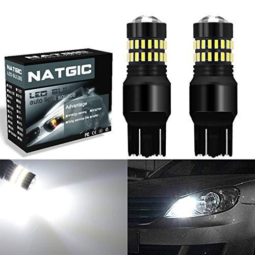 NATGIC 7443 T20 7440 7440NA 7441 992 Ampoules LED Jeu de puces LED avec projecteur pour blanc-xénon 1200LM 4814 SMD 4014 avec projecteur