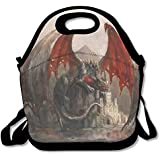 Dragon On Casatel Extra Large Insulated Lunch Box Food Handbag