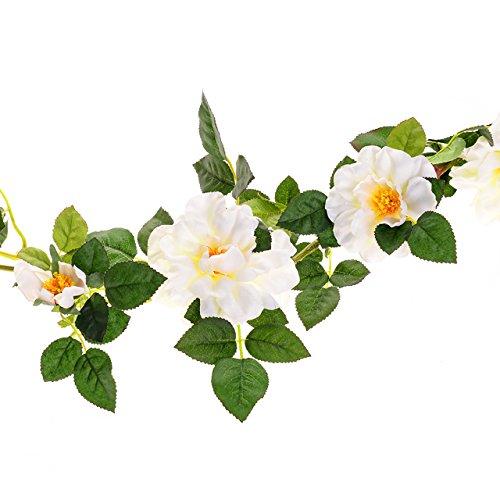 Cesti di campagna di rosa ghirlanda 15,24 cm, crema