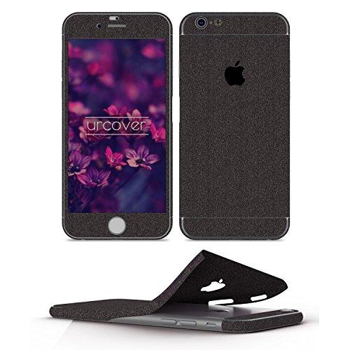 Urcover Glitzer-Folie zum Aufkleben | Apple iPhone 6 Plus/6s Plus | Folie in Schwarz | Zubehör Glitzerhülle Handyskin Diamond Funkeln Schutzfolie Handy-schutz Luxus Bling Glamourös
