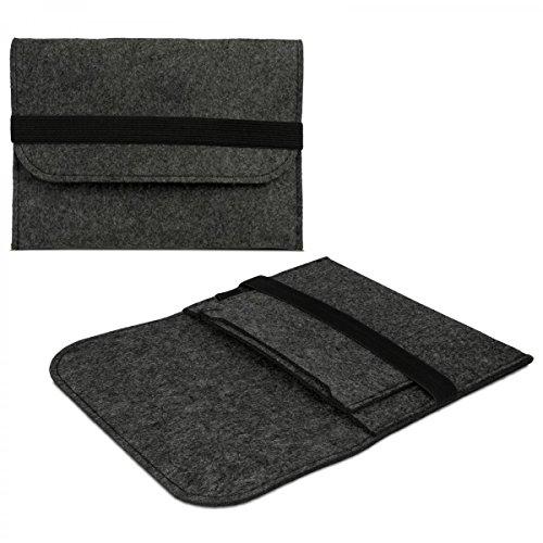 eFabrik Universal 8 Zoll Tablet Hülle für 7.0 - 8.0 Zoll Tablet Schutztasche Case Cover Sleeve Design dunkel grau