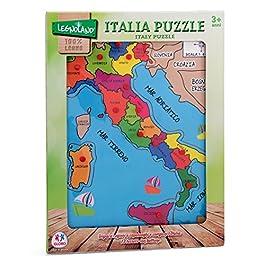 Legnoland- Italia Puzzle, Multicolore, 36841