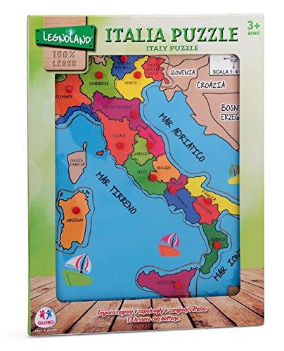 Legnoland 36841 - Puzzle Italia a Pioli, in Legno