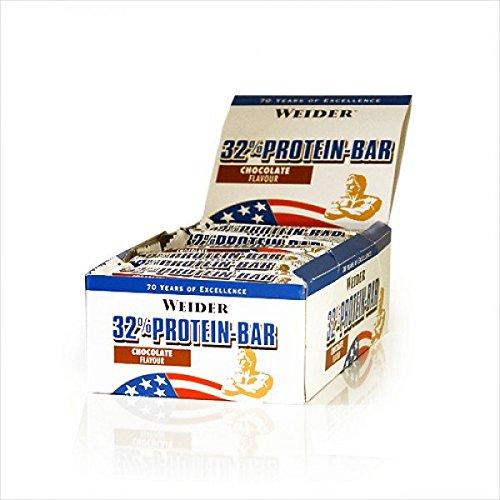 Weider 32{378067499e3a72992f33a1596e78acce3584ab886174d265b6996916a32ee28b} Protein Bar, Eiweiß-Riegel à ( 30x 60g) BIG BOX - MIX-BOX