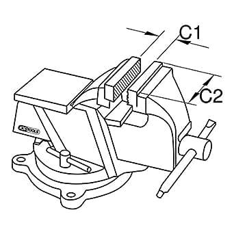 KS Tools 963.5007 BRONZEplus Parallel-Schraubstock 150 mm