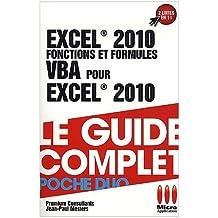 Excel 2010 Fonctions et Formules & VBA de Premium Consultants (23 juin 2010) Poche