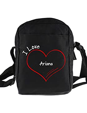 Umhängetasche Modern I Love Ariana schwarz