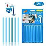 Abflussreiniger Sani Sticks, Abflussreiniger Stäbchen Abfluss Sticks für verstopfte Rohre in Küche, Bad und Dusche Drain Cleaner (12 Stück)