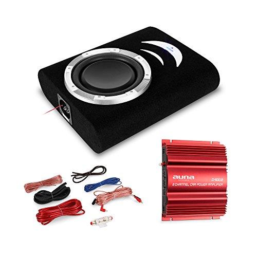 Electronic-Star Ording - Equipo de Sonido para Coche (subwoofer, Amplificador de 1000 W y Juego de Cables)