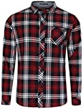 Tokyo Laundry Carlsson Mens Check Shirt Deep Deep Red Check - X Large