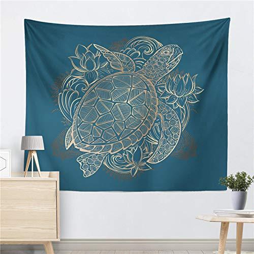 mmzki AliExpress Explosion sea Turtle Seahorse Decke Wand Teppich Wand Dekoration Druck dekorative Hintergrund Tuch ins hängen Tapisserie Band B 130 * 150 cm - Subwoofer Käfig