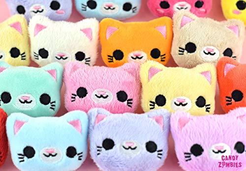 Haarspange Kawaii Katze Kitty - Katzen Haarclip Hairpuff in 3D extra weich gestickt auf Minky - 9 Farben zur Auswahl -