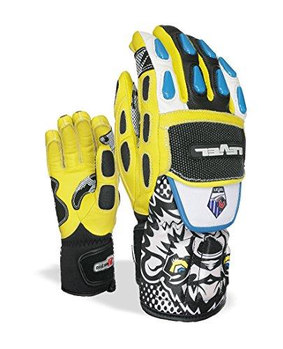 Level Worldcup Handschuhe Jungen Skihose schwarz/gelb fr: 12–14Jahre (Größe Hersteller: 7)