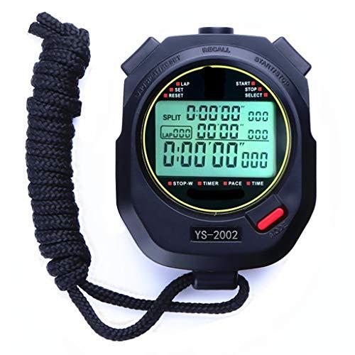 YCHBOS Digital Sport Stoppuhr-Timer/Stoppuhr-Timer/Training Laufen Fitness Leichtathletik-Trainer Professioneller Code Tabelle 1/1000 Sekunden Kann stummgeschaltet