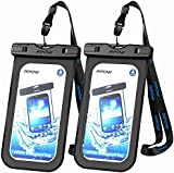 Waterproof Case, Mpow IPX 8 Rated Cellphone Dry Bag, Durable Waterproof Underwater Case Compatible with iPhone 7 /7s,6/6s Plus Home Button for iPhone, Google Pixel, HTC, LG, Huawei, Sony, Nokia (2-Pack)