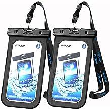Funda resistente al agua, Mpow IPX 8nominal teléfono móvil bolsa seca, compatible con iPhone 7/7Plus botón de inicio para iPhone, Google Pixel, HTC, LG, Huawei, Sony, Nokia (2-Pack)