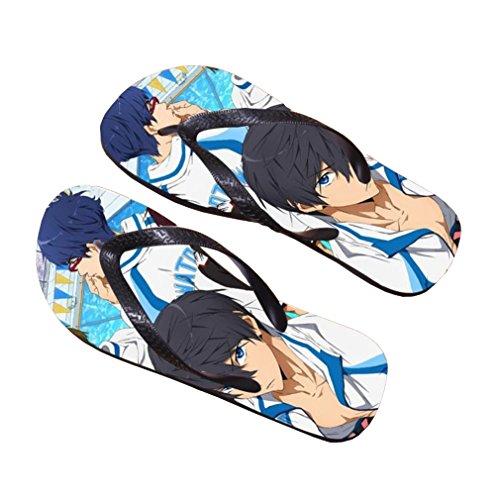Bromeo Free! Bromeo Grátis! Anime Unisex Flip Flops Zehentrenner Pantoffeln 404 Anime Aleta Unisex Fracassos Toe Trenner Chinelos 404